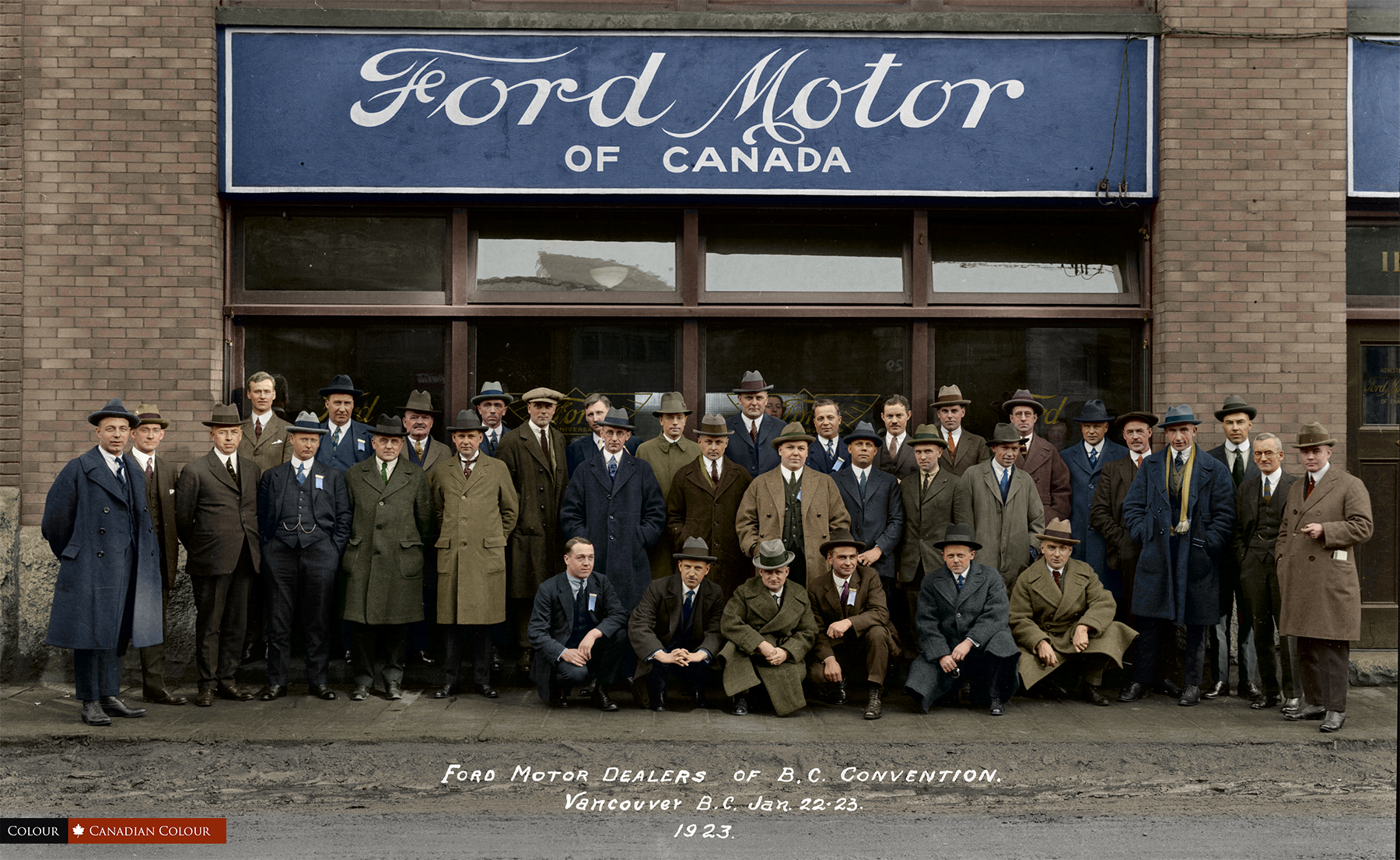 Wetaskiwin Ford Dealers >> Ford Motor Dealers of B.C. Convention Vancouver, B.C. Jan 1923 - Canadian Colour